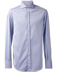 Brunello Cucinelli - Spread Collar Solid Shirt - Lyst