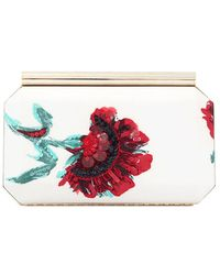 Oscar de la Renta - Saya Embroidered Carnation Clutch - Lyst