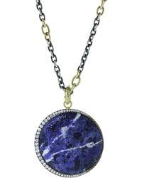 Sylva & Cie - Blue Moon Lapis Pendant - Lyst