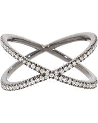 Eva Fehren - Diamond Shorty Ring - Lyst
