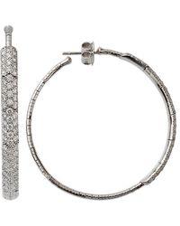 Mattia Cielo - Rugiada Diamond Pave Hoop Earrings - Lyst
