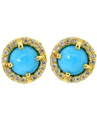 Irene Neuwirth | Cabochon Turquoise Stud Earrings | Lyst