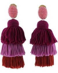 Oscar de la Renta - Tier Rassel Earrings - Lyst
