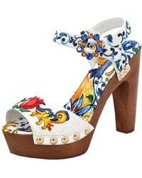 Dolce & Gabbana - Printed Brocade Clog - Lyst