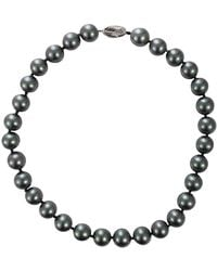 Fantasia Jewelry - Grey Pearl Necklace - Lyst