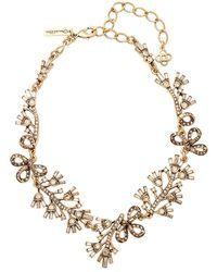 Oscar de la Renta - Floral Baguette Necklace - Lyst