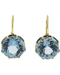 Sylva & Cie | Blue Topaz Earrings | Lyst
