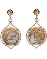 Inbar - Carved Cameo Earrings - Lyst