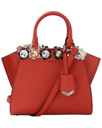 Fendi - 3jours Plexi Flower Mini Shopper Bag - Lyst