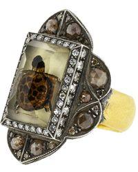 Sevan Biçakci - Carved Lemon Topaz Sea Turtle Ring - Lyst