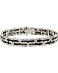 Fred Leighton - Art Deco Diamond And Onyx Tiffany Bracelet - Lyst