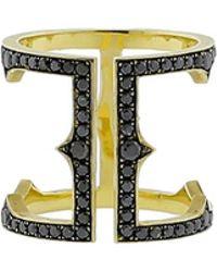 Sylva & Cie - Black Diamond Cage Ring - Lyst