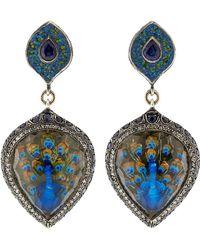 Sevan Biçakci - Turquoise Mosaic Peacock Earrings - Lyst