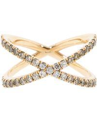 Eva Fehren - Champagne Diamond Ombre Shorty Ring - Lyst
