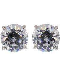 Fantasia Jewelry - Cubic Zirconia Round Stud Earrings - Lyst