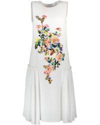 Blugirl Blumarine - Floral Embroidered Dress - Lyst