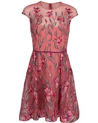 Notte by Marchesa - Embroidered Cocktail Dress - Lyst