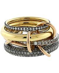 Spinelli Kilcollin - Plexus Five Link Diamond Pave Rings - Lyst