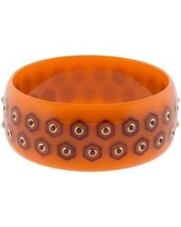 Mark Davis | Orange And Burgundy Bakelite Bangle | Lyst