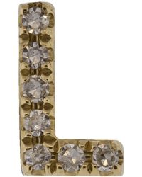 EF Collection - Diamond Initial L Stud Earring - Lyst