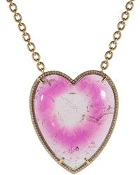 Irene Neuwirth - Bi-color Tourmaline Heart Necklace - Lyst