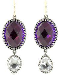 Larkspur & Hawk - Sadie Oval And Pear Drop Earrings - Lyst