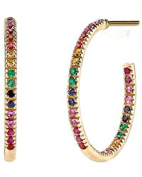 Sydney Evan - Rainbow Hoop Earrings - Lyst