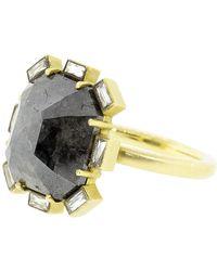 Sylva & Cie - Rough Diamond Petal Ring - Lyst