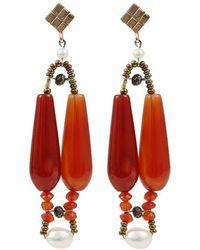 Ziio - Incas Small Murano Bead Earrings - Lyst