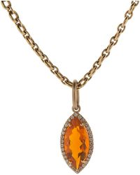 Irene Neuwirth - Fire Opal And Diamond Pendant - Lyst