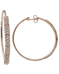 Mattia Cielo - Rugiada Diamond Pave Hoop Earrings - Lyst