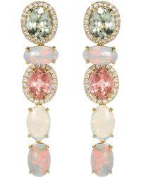 Katherine Jetter - Five Drop Pastel Tourmaline And Opal Earrings - Lyst