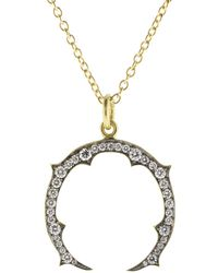 Sylva & Cie - Small Horseshoe Pendant Necklace - Lyst
