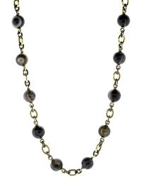Sylva & Cie - Striped Agate Beaded Necklace - Lyst