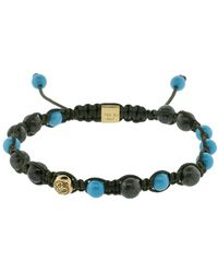 Shamballa Jewels - Green Marble And Turquoise Bracelet - Lyst