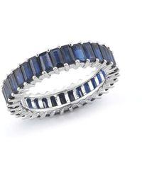 Dana Rebecca - Kristyn Kylie Blue Sapphire Eternity Ring - Lyst