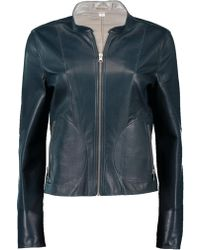 Lamarque - Chapin Leather Reverse Bomber Jacket - Lyst