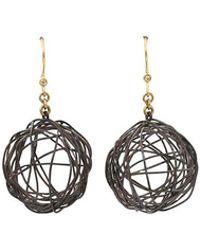 Boaz Kashi - Silver Drop Nest Earrings - Lyst