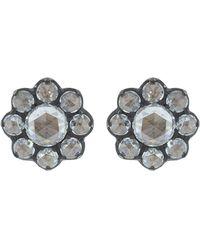 Fred Leighton - Petite Rose Cut Diamond Cluster Stud Earrings - Lyst