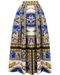 Versace - Printed Maxi Skirt - Lyst
