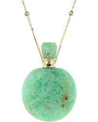 Jacquie Aiche - Round Chrysoprase Potion Bottle Necklace - Lyst