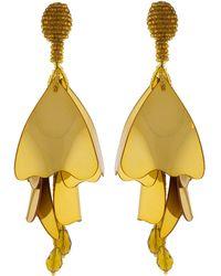 Oscar de la Renta - Large Impatient Flower Earrings - Lyst