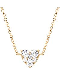 EF Collection - Diamond Heart Choker Necklace - Lyst