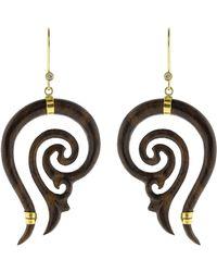 Boaz Kashi - Carved Earrings - Lyst