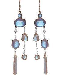 Irene Neuwirth - Rainbow Moonstone Drop Earrings - Lyst