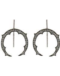 Sylva & Cie - Diamond Horseshoe Earrings - Lyst