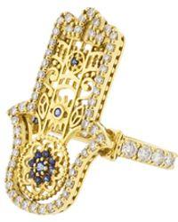Buddha Mama - Filigree Hamsa Ring - Lyst