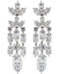 Fantasia Jewelry - Cubic Zirconia Drop Earrings - Lyst