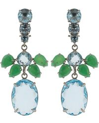 Bounkit - Chrysoprase And Quartz Drop Earrings - Lyst