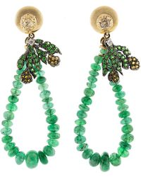 Federica Rettore | Emerald Bead Earrings | Lyst